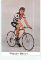 Werner DEVOS . 2 Scans. Cyclisme. Van De Ven Roland 1986 - Radsport