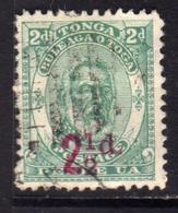 TONGA TOGA 1893 KING GEORGE I SURCHARGED 2 1/2p On 2p USATO USED OBLITERE' - Tonga (...-1970)