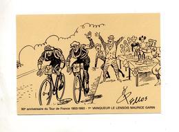 Carte Tour De France - Cyclisme