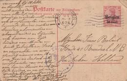 ENTIER POSTAL / POSTKARTEN - P13 - Antwerpen 9/06/1917 - [OC1/25] General Gov.