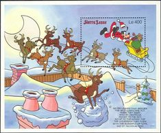 Sierra Leone - 1990 - Disney: Goofy, Christmas - Yv ??? - Disney