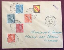 615 O.I.T. Commission Industries Chimiques Paris 14/4/1948  Mercure405 408 412 414A 415 Lorraine Lettre - Postmark Collection (Covers)