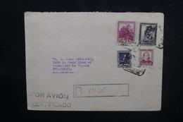 ESPAGNE - Enveloppe En Recommandé De Barcelone Pour Les Etats Unis En 1938, Affranchissement Plaisant - L 52553 - 1931-50 Briefe U. Dokumente