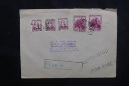 ESPAGNE - Enveloppe En Recommandé De Barcelone Pour Les Etats Unis En 1938, Affranchissement Plaisant - L 52554 - 1931-50 Briefe U. Dokumente