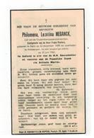 DP Philomena Leontina MEGANCK Geboren Aalst 1889,echtgen.v Frans Peeters,gestorven Antwerpen  1960 - Religione & Esoterismo
