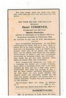 DP Henri VERHEYEN Geboren Antwerpen 1887,echtgen.v Maria Cantrijn,gestorven Borgerhout  1944 - Religione & Esoterismo