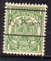 TRANSVAAL 1893 COAT OF ARMS STEMMA ARMOIRIES SHILLING SURCHARGED PENCE 2 1/2p On EEN SHILLING 1s MH - Sud Africa (...-1961)