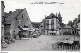 63 - ROCHEFORT- MONTAGNE  - La Place Hotel Marret - Autres Communes