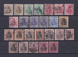 Deutsches Reich - 1915/19 - Michel Nr. 84/93 II - Gest. - 51 Euro - Gebraucht