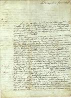 1814 Pont De Vaux Ain  =>  Roanne GUERRES NAPOLEONIENNES  NAPOLEON CAMPAGNE DE FRANCE 1814 GUERRE AUTRICHE  INVASION - Historische Documenten