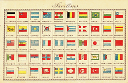 835/ 3x Oude Kaart, Pavillons, Marine ( Flammes De Guierre), Armoiries, Wapens, Vlaggen - Cartes Postales