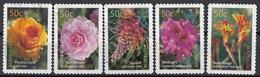 Australia 2003 Sc. 2143-2147 Flowers Fiori Full Set Used Rose Rododendro Bush Tango Grevillea - Flora
