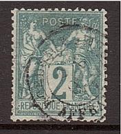 SAGE 2c Vert Type I N Sous B - Yvert 62° - 1876-1878 Sage (Type I)