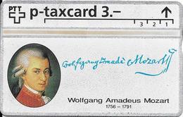 Switzerland: PTT KP-93/187J 404L SRH-Telefonkarten-Info-Club - Wolfgang Amadeus Mozart - Svizzera