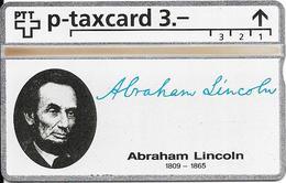Switzerland: PTT KP-93/187K 404L SRH-Telefonkarten-Info-Club - Abraham Lincoln - Svizzera