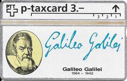 Switzerland: PTT KP-93/187L 404L SRH-Telefonkarten-Info-Club - Galileo Galilei - Svizzera