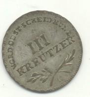 Autriche Franz II 3 Kreutzer 1795 H - Oesterreich