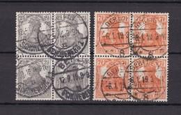 Deutsches Reich - 1916 - Michel Nr. 98/99 - Viererblocks - Gest. - 40 Euro - Gebraucht