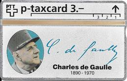Switzerland: PTT KP-93/187O 501L SRH-Telefonkarten-Info-Club - Charles De Gaulle - Svizzera