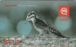 SLOVENIA - Triprsti Detel / Three-toed Woodpecker (Picoides Tridactylus) , Exp.Date:31/12/11, Used - Eslovenia