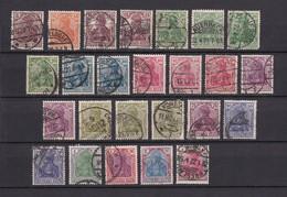 Deutsches Reich - 1920/21 - Michel Nr. 140/153 - Gest. - 60 Euro - Deutschland