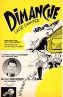 ACCORDEON - PARTITIONS DIMANCHE / CARILLON D'ALSACE PAR ANDRE VERCHUREN - 1960 - ETAT COMME NEUF- BELLES ILLUSTRATIONS - - Musique & Instruments