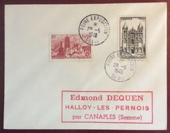 622 Blois Foire Exposition 29/5/1948 Dunkerque 744 Angoulême 663 Lettre - Postmark Collection (Covers)