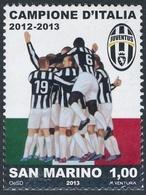 San Marino 2013 Correo 2356 Juventus Futbol Club Compeones De Italia  **/MNH - San Marino