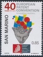 San Marino 2013 Correo 2357 40 Aniv. Convenio Europeo De Patentes  **/MNH - San Marino