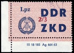 1964, DDR Verwaltungspost C Laufkontrollzettel ZKD, 39 III DV, Cto (1710046099) - DDR
