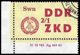 1964, DDR Verwaltungspost C Laufkontrollzettel ZKD, 45 DV, Cto (1710046100) - DDR