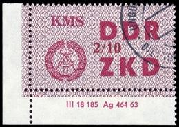 1964, DDR Verwaltungspost C Laufkontrollzettel ZKD, 38 X DV, Cto (1710046102) - DDR