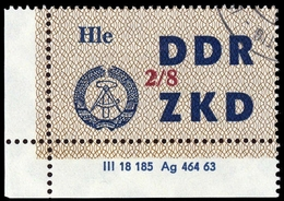 1964, DDR Verwaltungspost C Laufkontrollzettel ZKD, 37 VIII DV, Cto (1710046101) - DDR