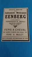 Ancienne Pub De Presse Ets Métallurgiques Eenberg Venissieux Rhone - Advertising