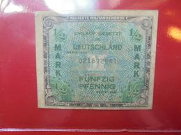 OCCUPATION ALLIEE : 1/2 MARK 1944 CIRCULER - [ 5] 1945-1949 : Bezetting Door De Geallieerden