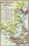 Japan, Osaka Shosen Kaisha, OSK Lines Asia Map Postcard (1910s) - Other
