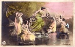 PHOTOMONTAGE : SURRÉALISME / SURREALISM - FEMMES Et POISSON GÉANT / WOMAN And GIANT FISH - NPG ~ 1900 (ad882) - Sin Clasificación
