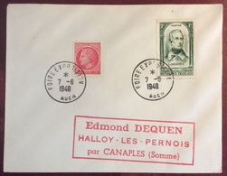 626 Agen Foire Exposition 7/6/1948 Lamartine 795 Mazelin 676 Lettre - Postmark Collection (Covers)