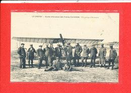 80 LE CROTOY Cpa Animée Ecole D ' Aviation Des  Freres CAUDRON Un Groupe D ' Aviateurs Edit Poidevin - Le Crotoy