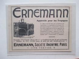 Théme Appareil Photo & Camera - Modèle ERNNEMANN Pour Les Tropiques   - Ancienne Coupure De Presse - Appareils Photo
