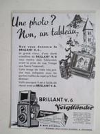Théme Appareil Photo & Camera - Modèle VOIGTLANDER Brillant V6 Ets SCHOBER & HAFNER Asnières- Ancienne Coupure De Presse - Appareils Photo