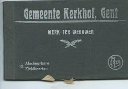 GENT BOEKJE MET 12 ZICHTKAARTEN GEMEENTE KERKHOF - Gent
