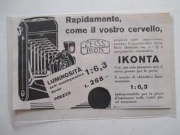 Théme Appareil Photo & Camera - Modèle IKONTA ZEISS IKON  - Ancienne Coupure De Presse Italienne 1926 - Appareils Photo