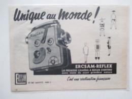 Théme Appareil Photo & Camera - Caméra Pour Projecteur  Modèle ERCSAM REFLEX   - Ancienne Coupure De Presse 1957 - Filmkameras - Filmprojektoren
