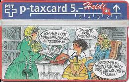 Switzerland: PTT KP-93/188M 403L SRH-Telefonkarten-Info-Club - Heidi 11 - Svizzera