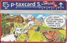 Switzerland: PTT KP-93/188W 524L SRH-Telefonkarten-Info-Club - Heidi 21 - Svizzera