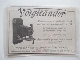 Théme Appareil Photo & Camera - Modèle VOIGTLANDER  & SOHN Milano - Ancienne Coupure De Presse Italienne 1926 - Filmkameras - Filmprojektoren