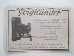 Théme Appareil Photo & Camera - Modèle VOIGTLANDER  & SOHN Milano - Ancienne Coupure De Presse Italienne 1926 - Filmprojectoren