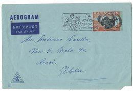 IZ145     DENMARK Aerogramme 80o 1966 Lyngby Cancel To Italy - Enteros Postales