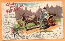 Gruss Aus Karlovy Vary Karlsbad Czech Republic 1902 Postcard - Repubblica Ceca